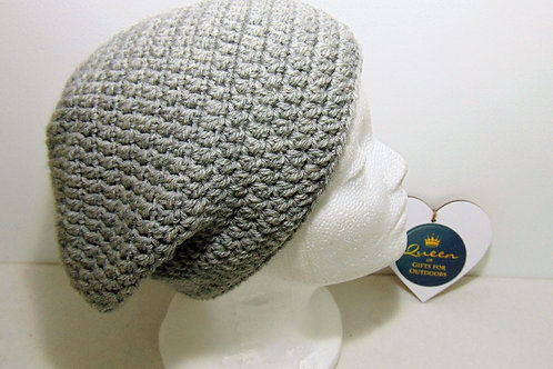 Brimless Slouchy Beanie - Grey, Gifts for Outdoors, Adventure Accessories