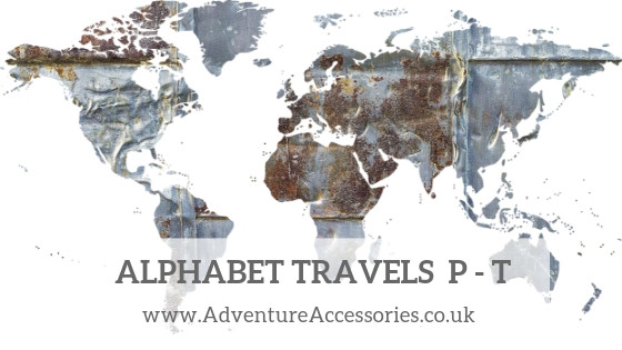 Alphabet Travels Letters P to T. Adventure Accessories