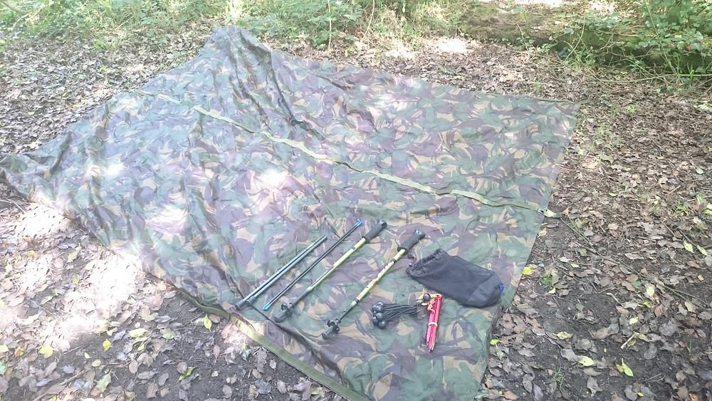British army basha kit, wild camping. Adventure Accessories