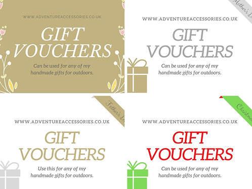 Gifts Vouchers - Gifts for Outdoors, Adventure Accessories