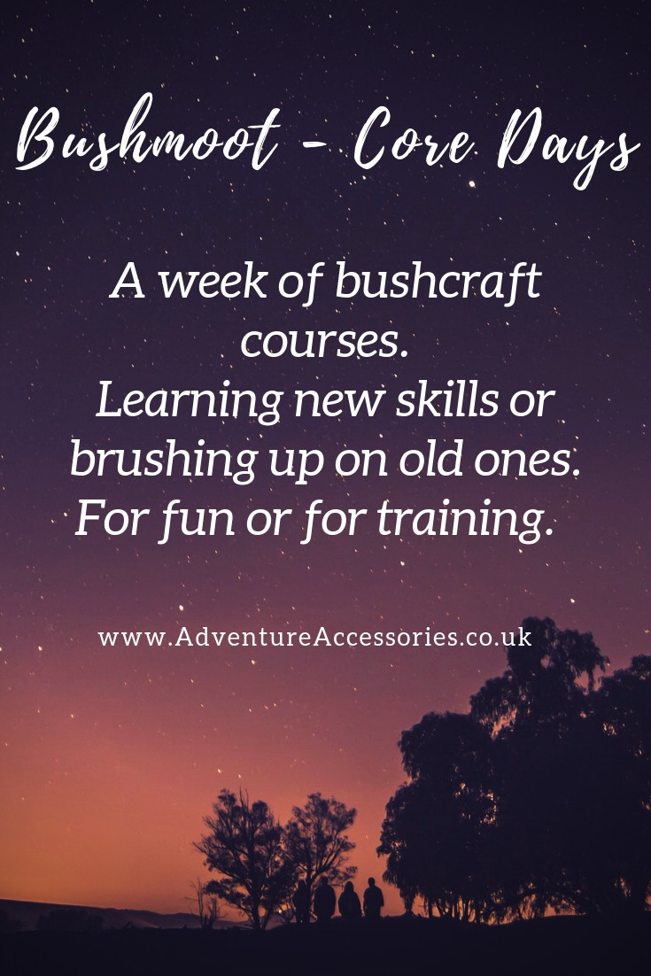 Bushmoot Core Days, a week of bushcraft training courses. Adventure Accessories