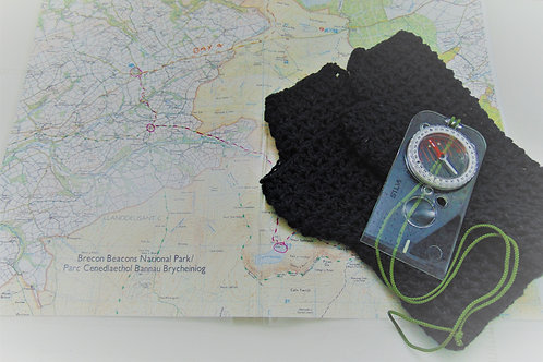 Hiking Mitts - Cotton Black. Gifts for Outdoors, Adventure Accessories
