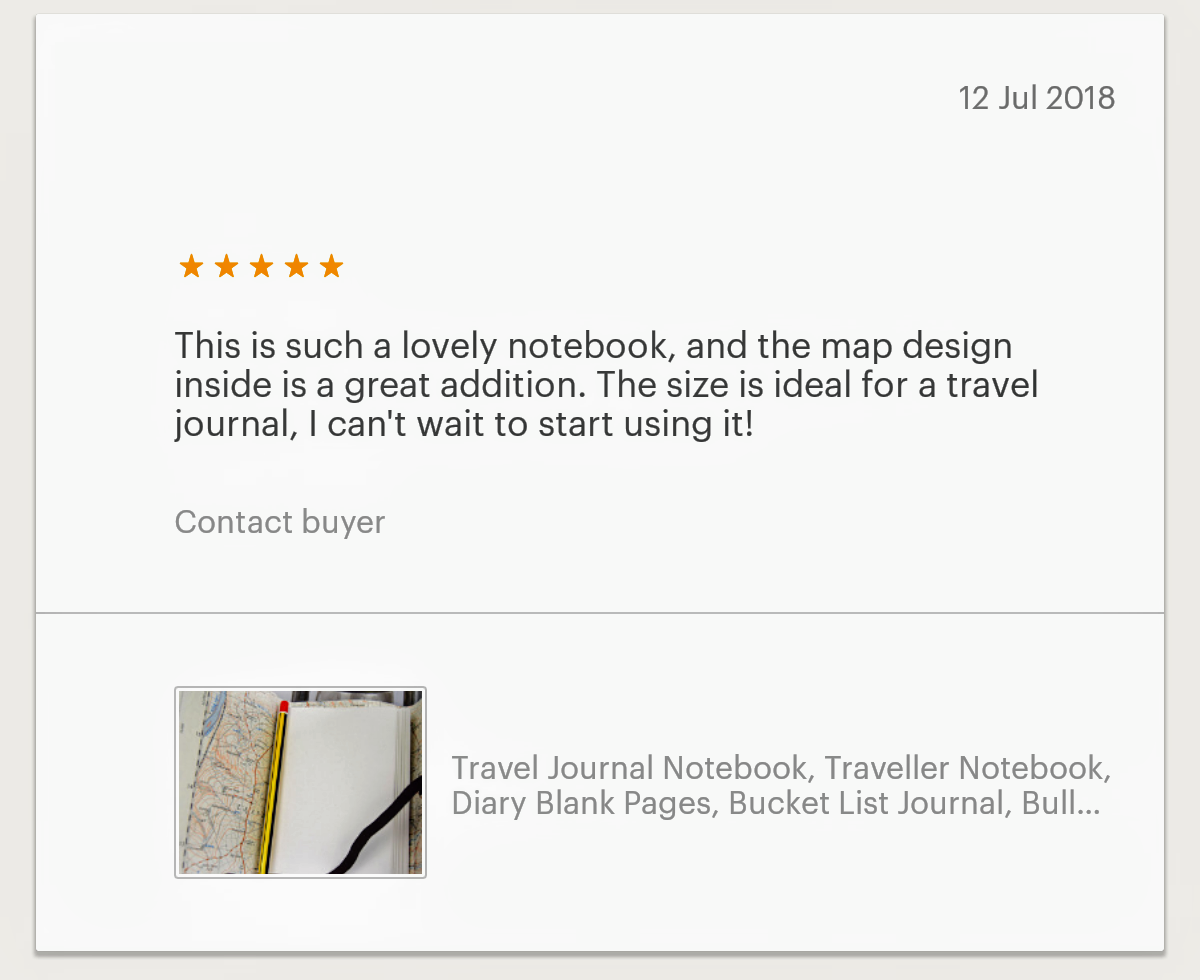 7. Etsy Review Traveller Notebook