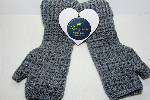 Hiking Mitts - Grey, Gifts for Outdoors, Adventure Accessories
