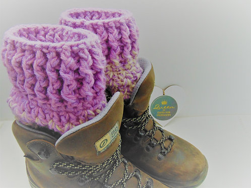 Boot Cuffs - Tayberry Purple. Gifts for Outdoors, Adventure Accessories