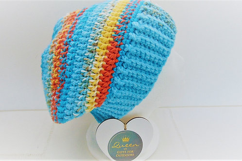 Slouchy Beanie Hat - Charity Blue from Adventure Accessories, gifts for outdoors.