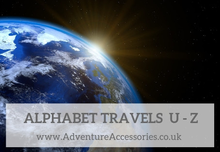 Alphabet Travels U-Z