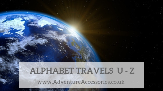 Alphabet Travels U-Z, Adventure Accessories