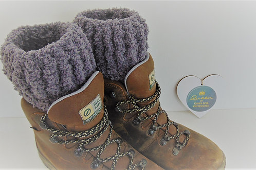 Boot Cuffs, Smokey Grey. Gifts for Outdoors, Adventure Accessories