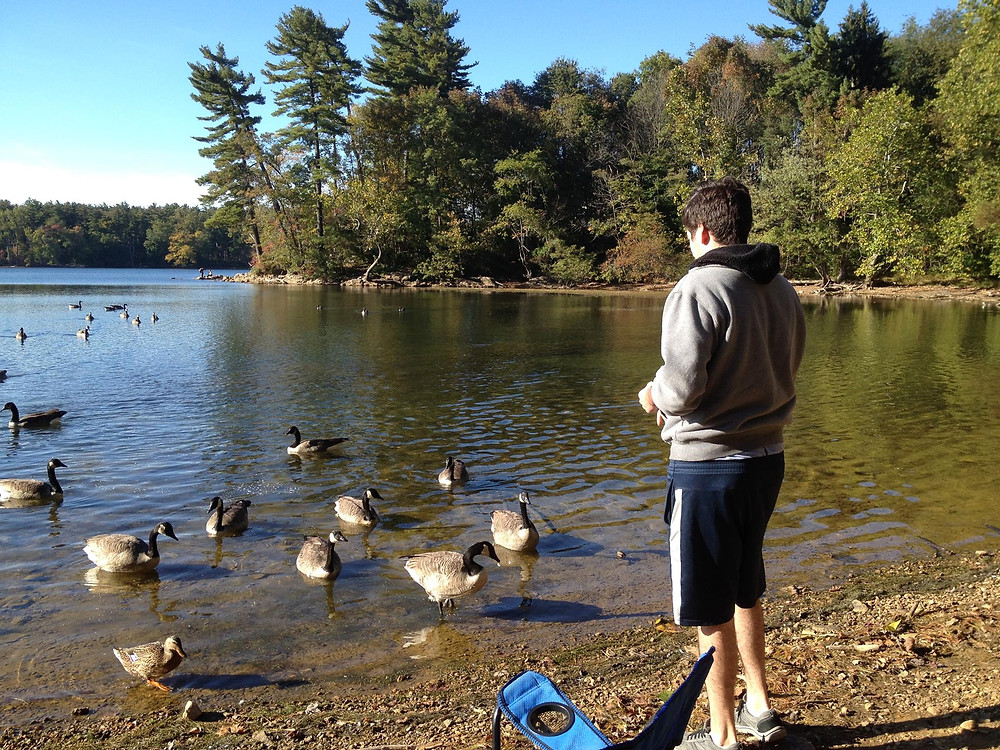 Nature can be as simple as feeding the ducks in the park. Adventure Accessories