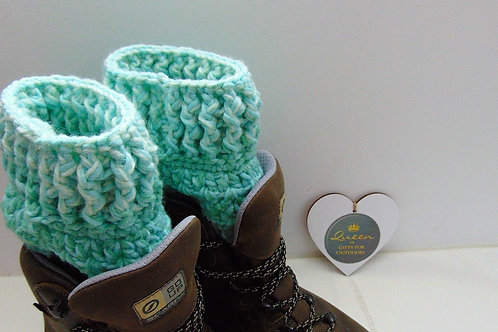 Boot Cuffs - Mint Ombre. Gifts for Outdoors, Adventure Accessories