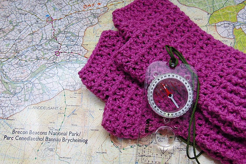 Hiking Mitts - Carnation. Gifts for Outdoors, Adventure Accessories