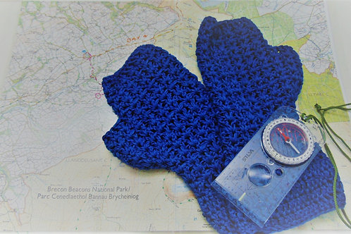 Bamboo Cotton Mitts - Navy. Gifts for Outdoors, Adventure Accessories