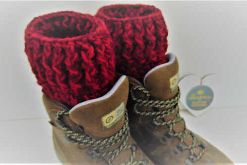 Boot Cuffts - Burgundy Claret. Gifts for Outdoors, Adventure Accessories