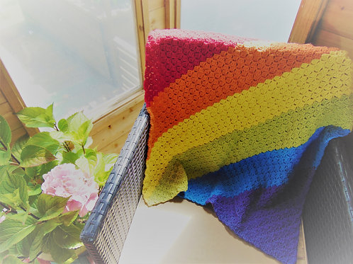 Lap Blanket - Rainbow. Gifts for Outdoors, Adventure Accessories
