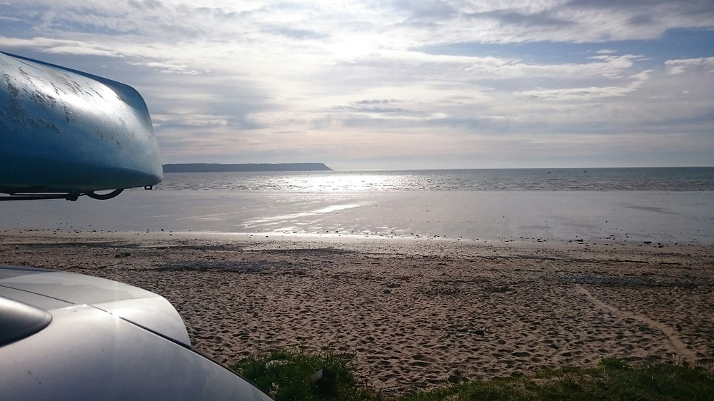Car and Kayak on Oxwich Bay beach, Adventure Accessories