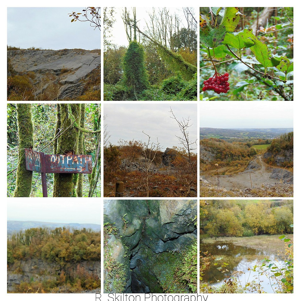 Pentregwenlais Quarry collage taken by R. Skilton Photography.
