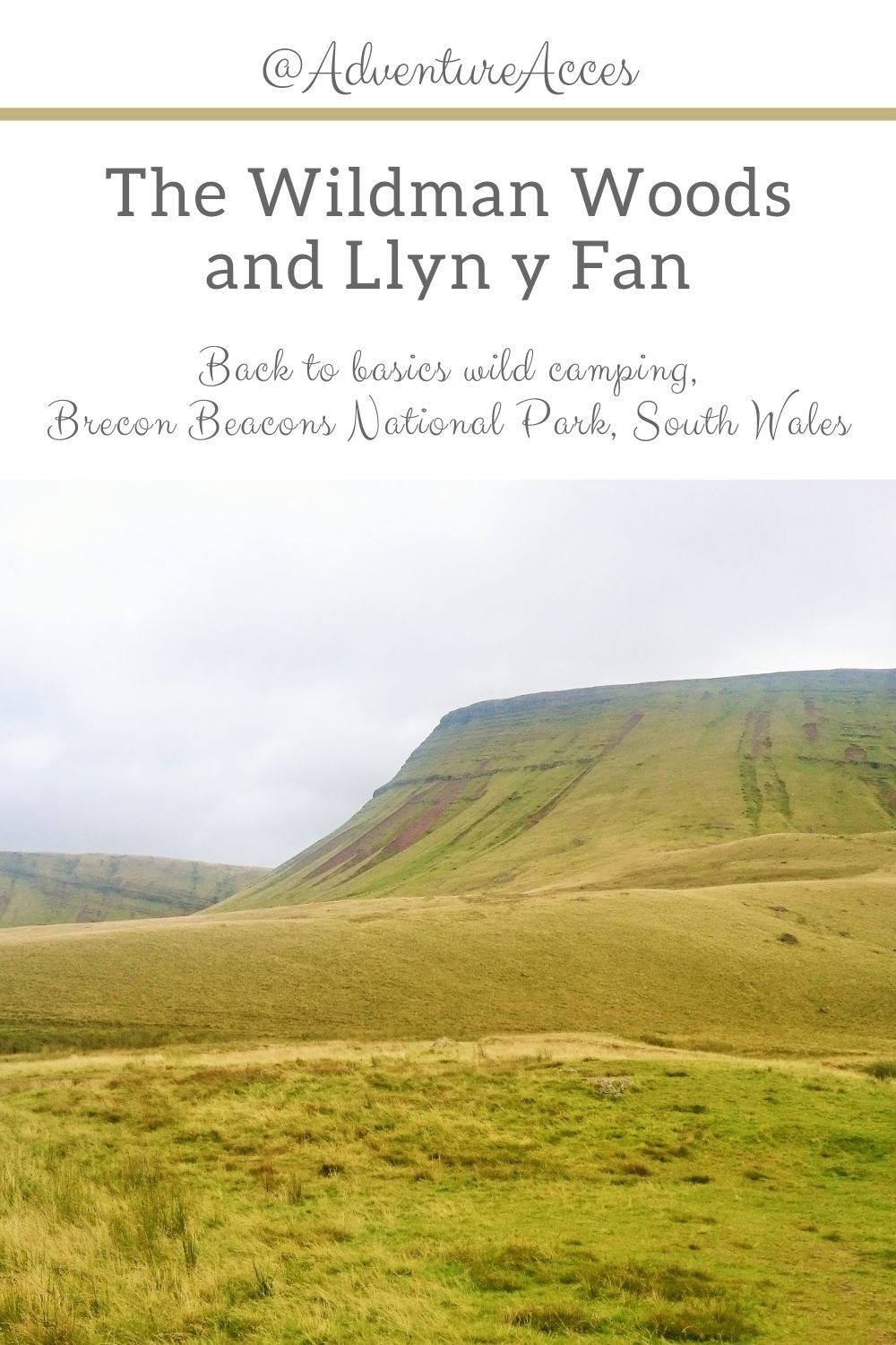 The Wildman Woods and Llyn y Fan. Wild camping, South Wales. Adventure Accessories
