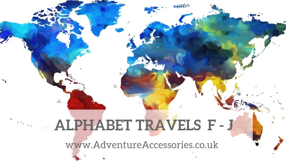 Alphabet Travels F to J - Adventure Accessories
