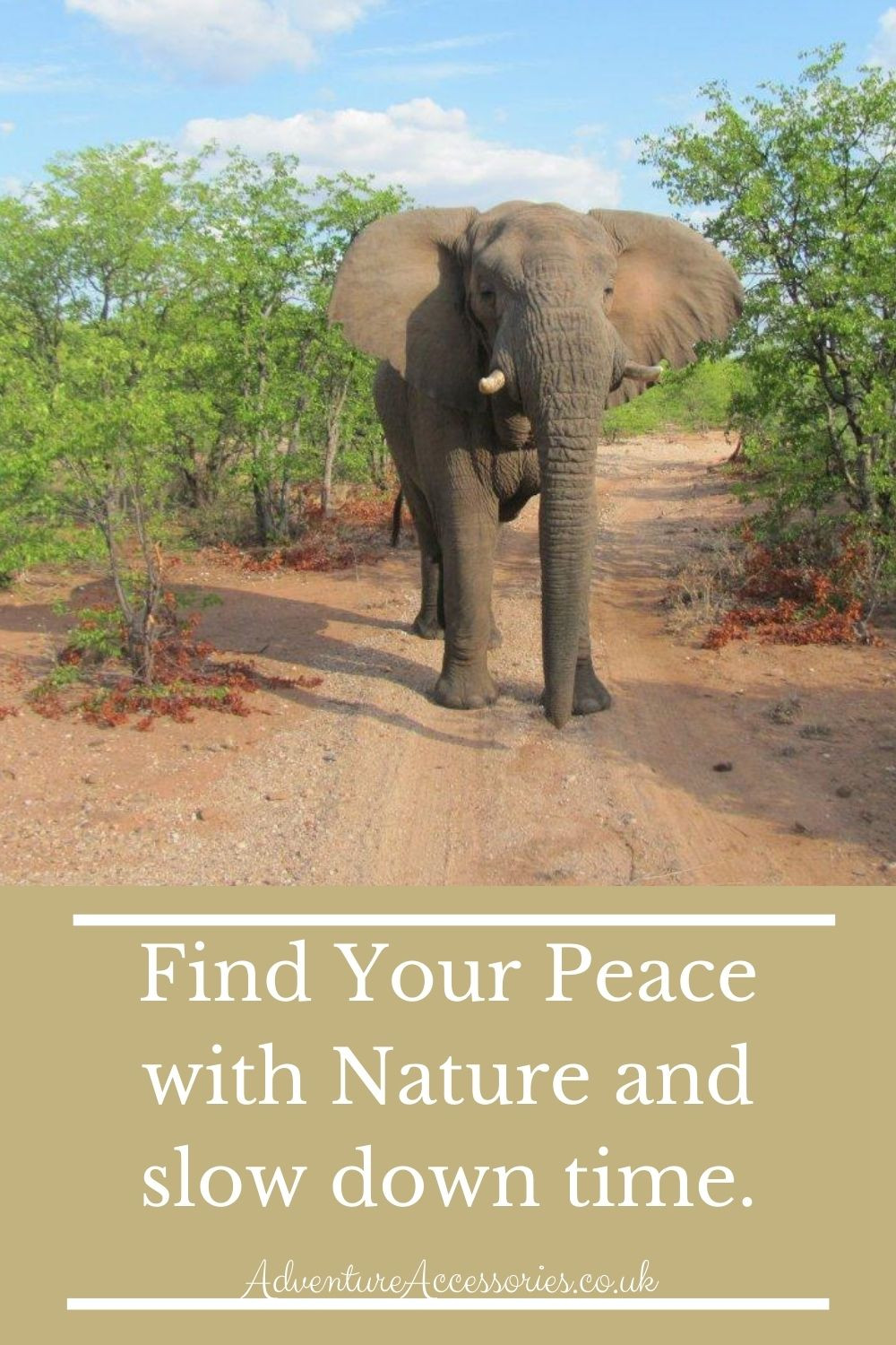 Nature: Slow down time, find your peace. Adventure Accessories