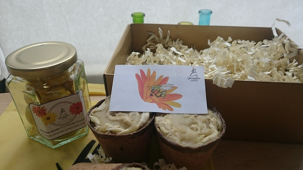 Honey Bee Candles, Beeswax Sparks and Firestarters. Adventure Accessories