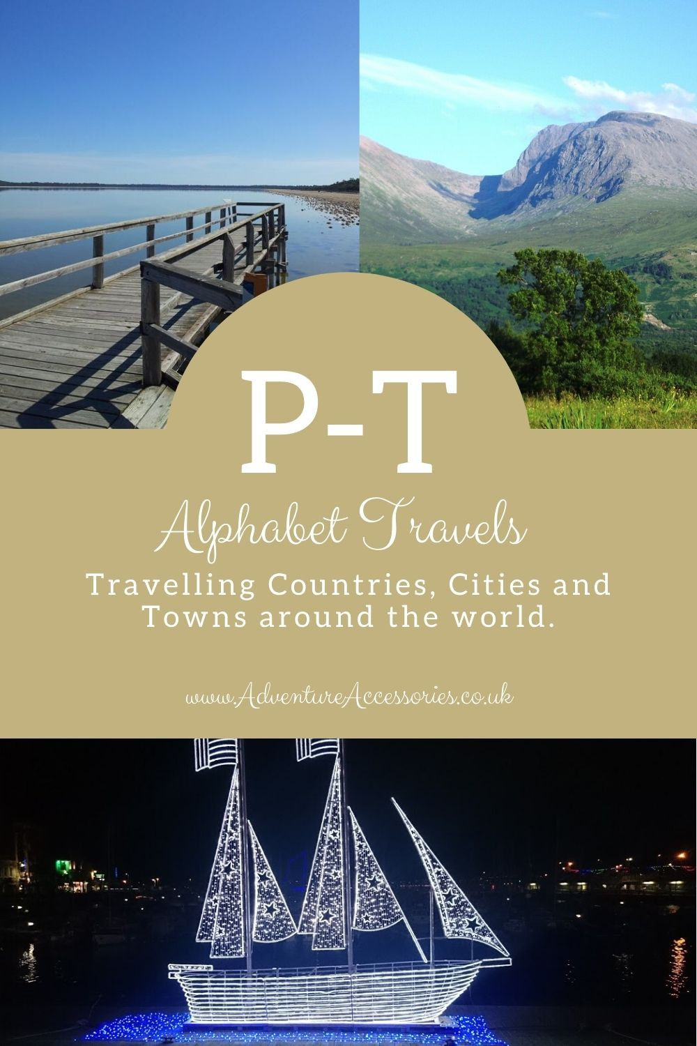 Pinterest, Alphabet Travels P-T. Adventure Accessories