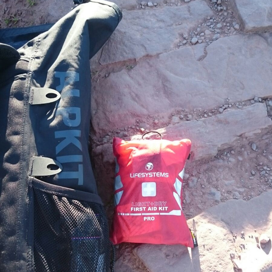 Hiking Safely First Aid Kit. Adventure Accessories
