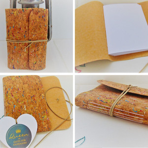 Traveller Notebook - Cork Fabric with plain white pages