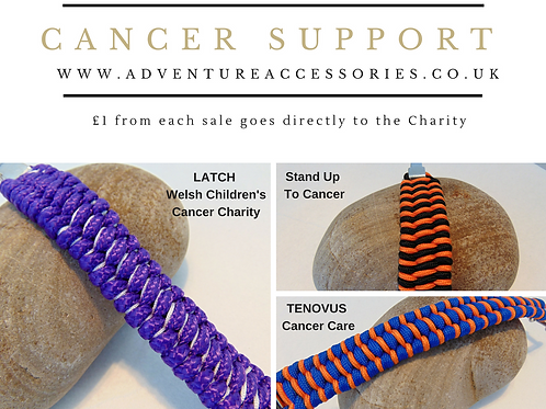 Cancer Support Paracord Bracelets, Photo College, AdventureAcessories.co.uk