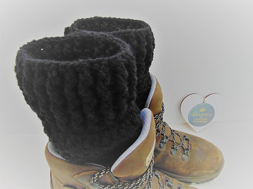 Boot Cuffs - Black. Gifts for Outdoors, Adventure Accessories