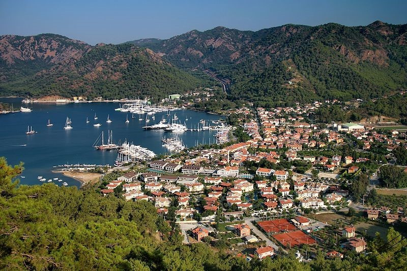 View over Gocek town and marina. Adventure Accessories