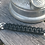 Paracord Keychain, black with split ring and lobster claw hook, AdventureAccessories.co.uk