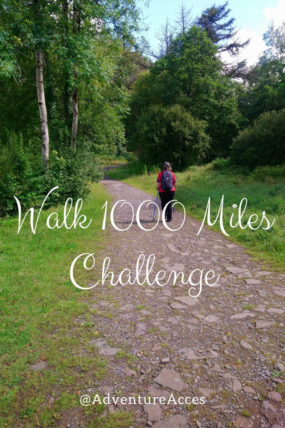 Walk 1000 Miles Pin by Adventure Accessories