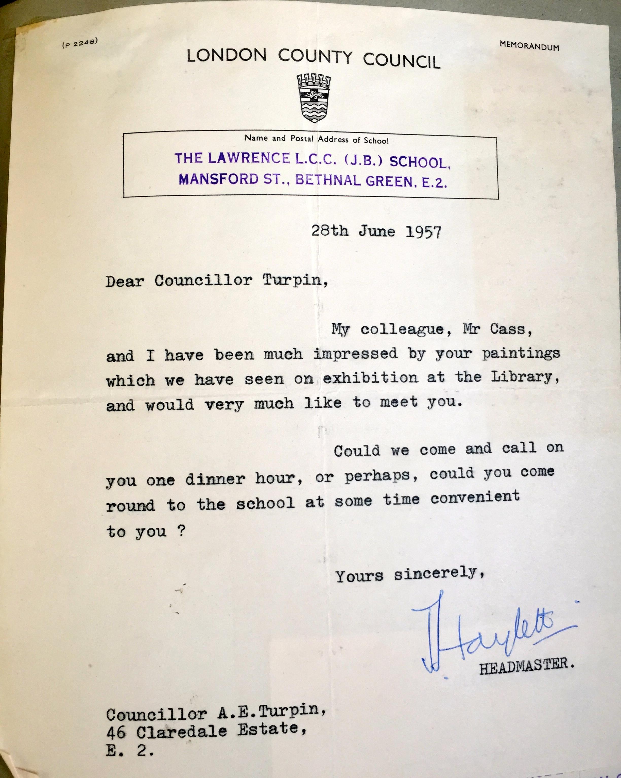 Letter 1957