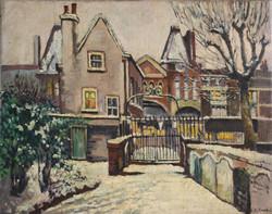 27. Shoreditch Church Vergers House in Winter 1954.jpg