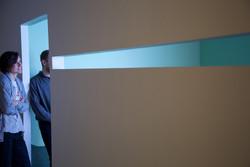 Viewers in doorway