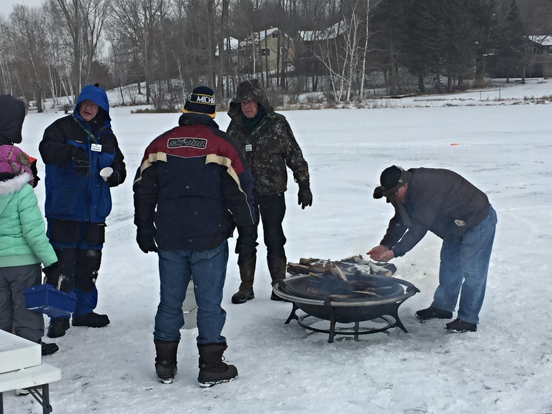 Keeping warm - Ice Fishing