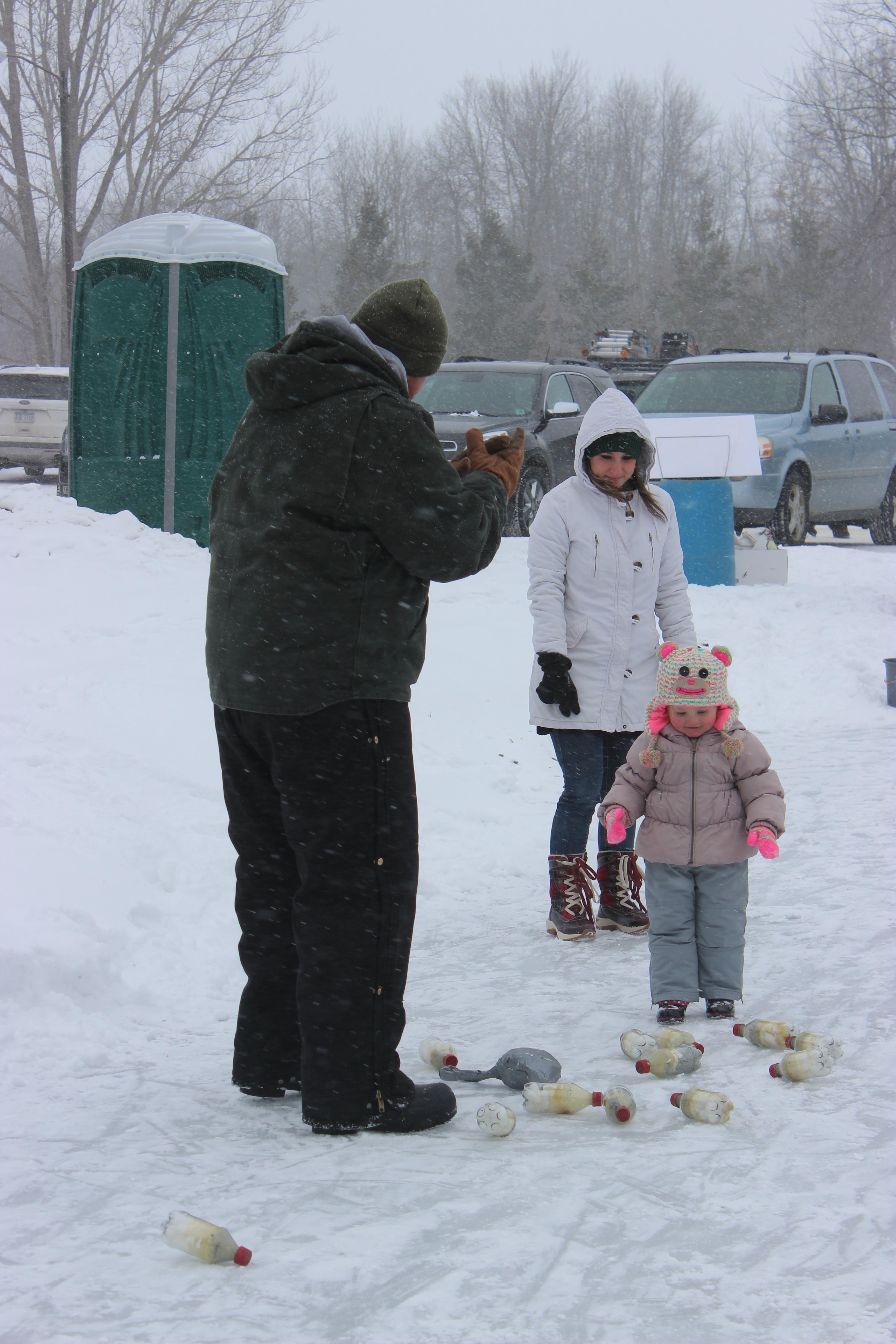 Winter Carnival Turkey Bowling