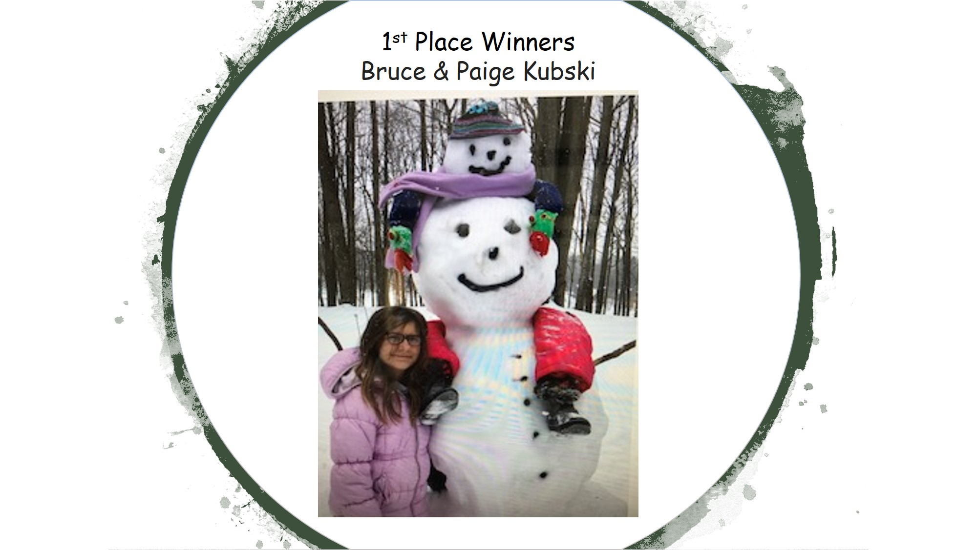 Snow Sculpture 1stPlaceWinners