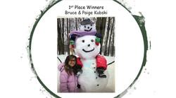 Snow Sculpture 1stPlaceWinners