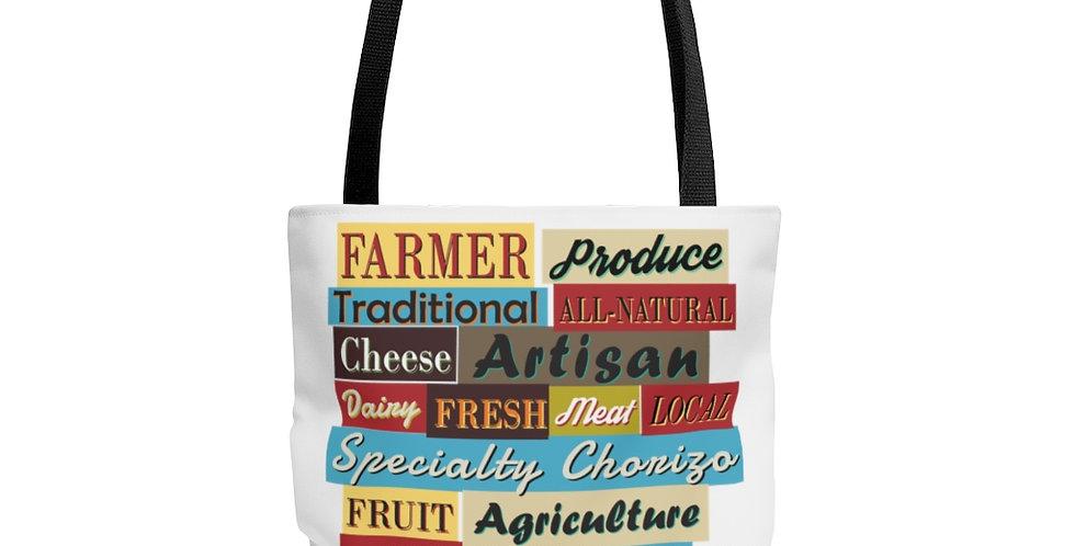 Farmers Market Retro Tote Bag