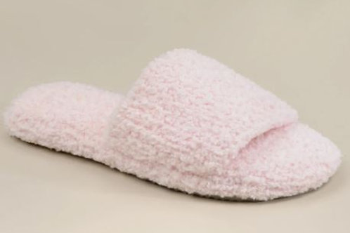 WOMEN'S SLIPPERS PINK S/M (SIZE 4-7)