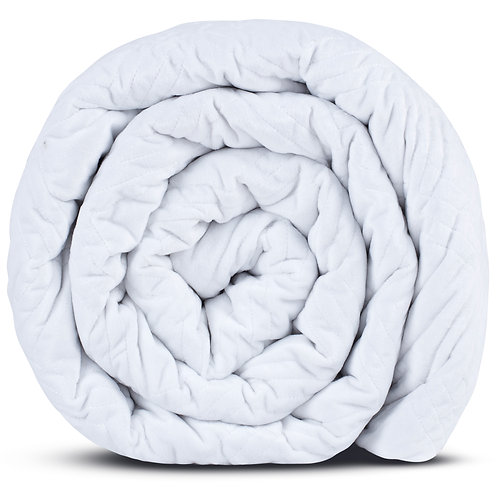 HUSH CLASSIC QUEEN WEIGHTED BLANKET WHITE