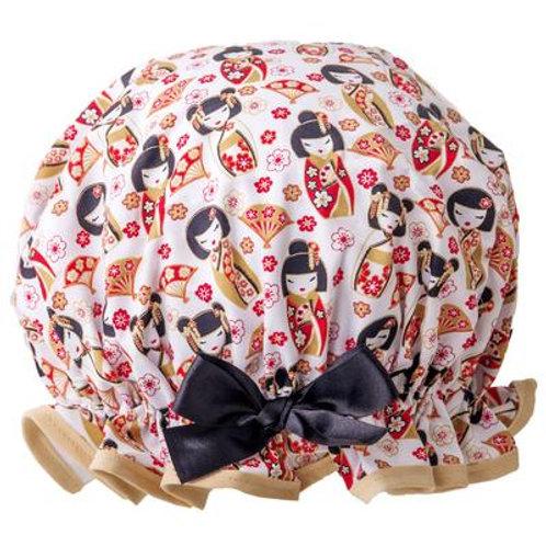 Dilly Daydream Japanese Dolls Shower Cap