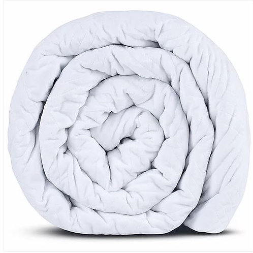 HUSH CLASSIC QUEEN 25 LBS WEIGHTED BLANKET WHITE
