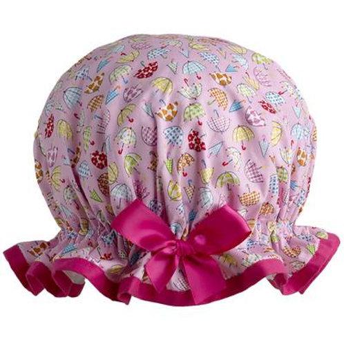Dilly Daydream Pink Brollies Shower Cap