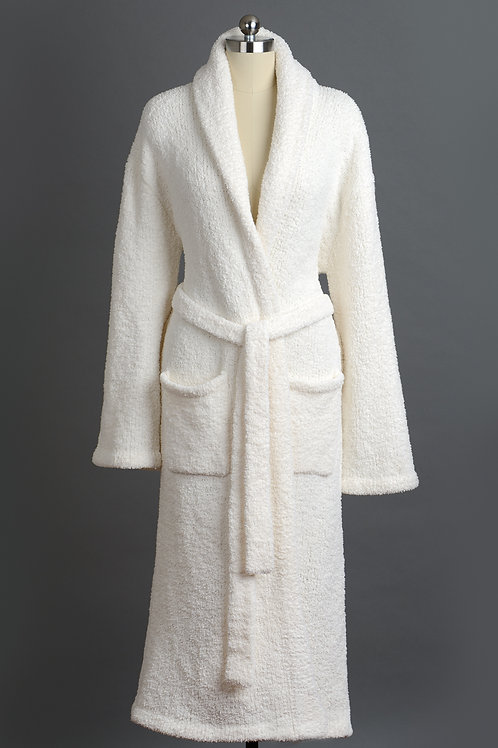 SIGNATURE SHAWL COLLAR ROBES Crème Large