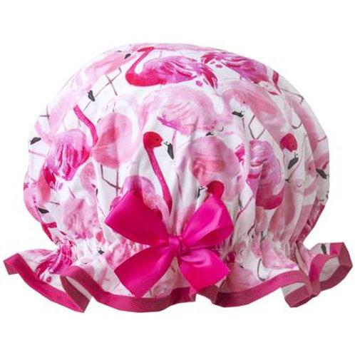 Dilly Daydream Pink Flamingo Shower Cap