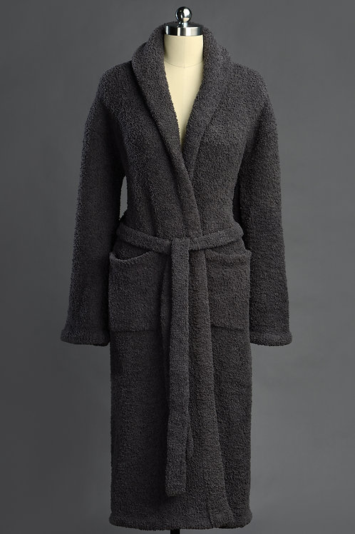 SIGNATURE SHAWL COLLAR ROBES Slate X-Large