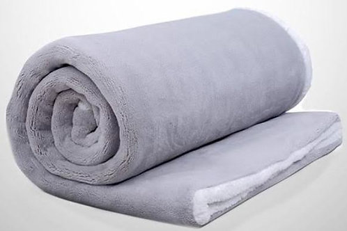 THE HUSH WEIGHTED THROW (SHERPA) 8LBS GREY